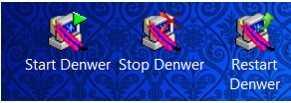 Denwer создает три ярлыка после установки