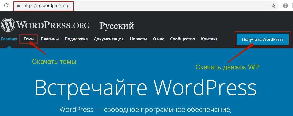 Где скачать бесплатный шаблон  wordpress на русском