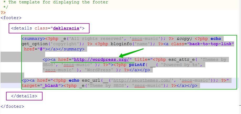 Код для удаления выглядит по разному