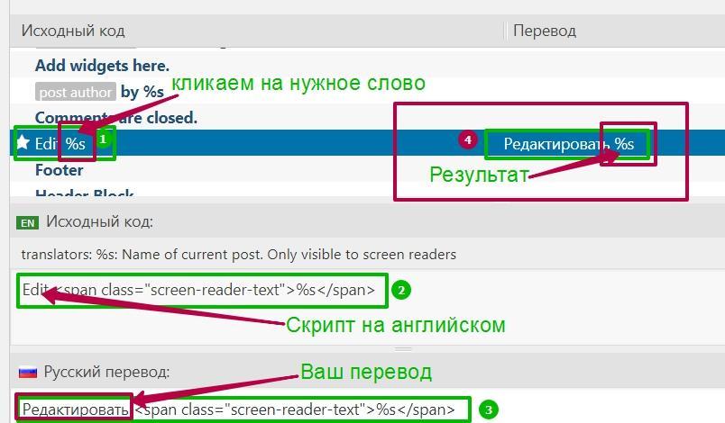 Пропишите русский перевод