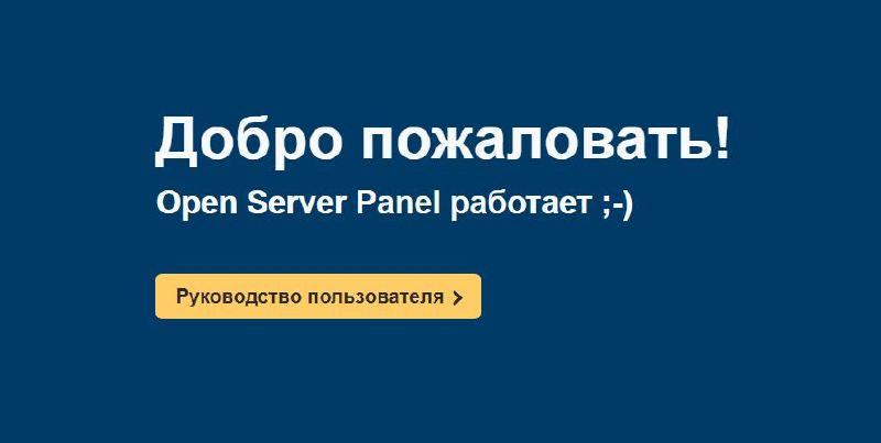 Панель localhost в OpenServer